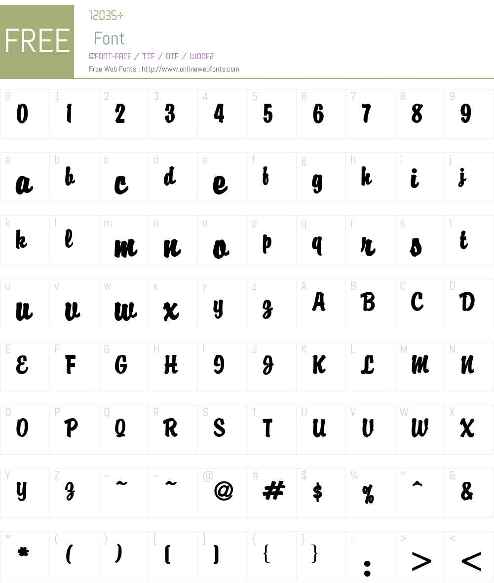 Brisk Extended Font Screenshots