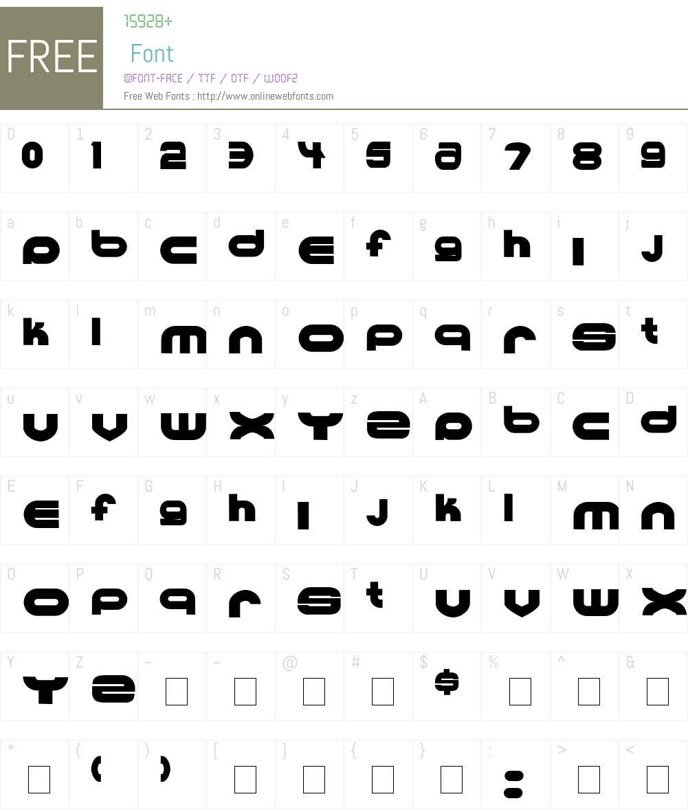 Ultraworld Font Screenshots