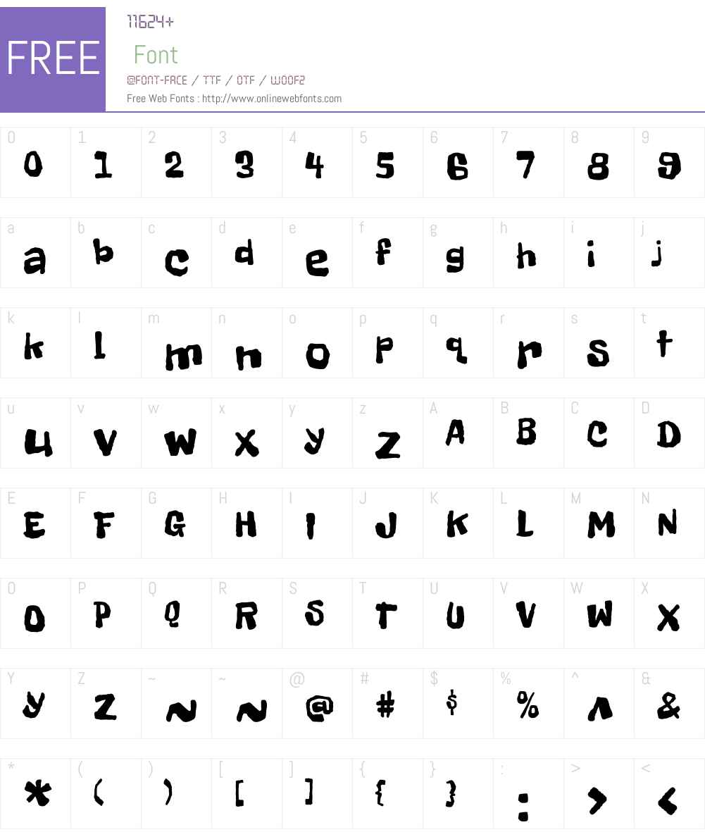 Freckle Face Font Screenshots
