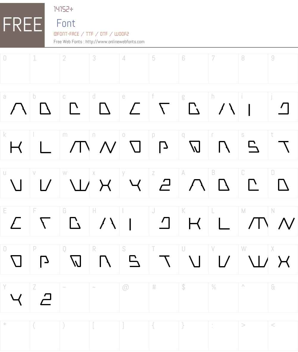 Robotic Font Screenshots