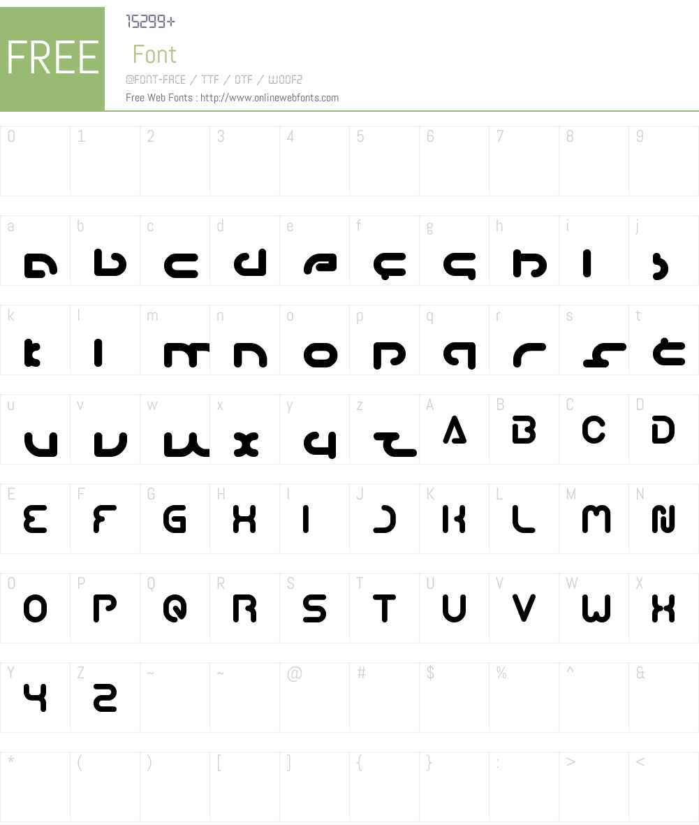 techno VARIOUS Font Screenshots