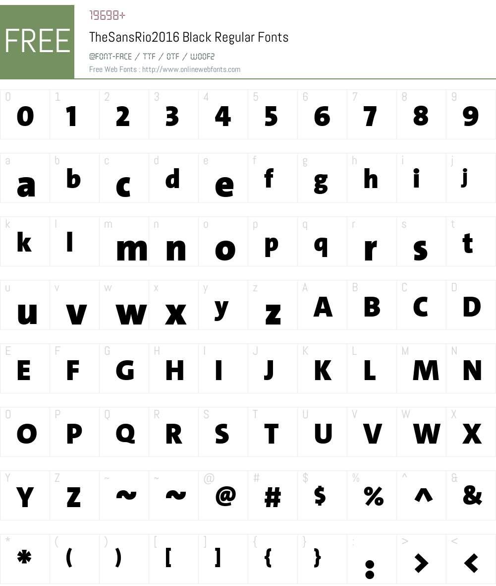 TheSansRio2016 Black Font Screenshots