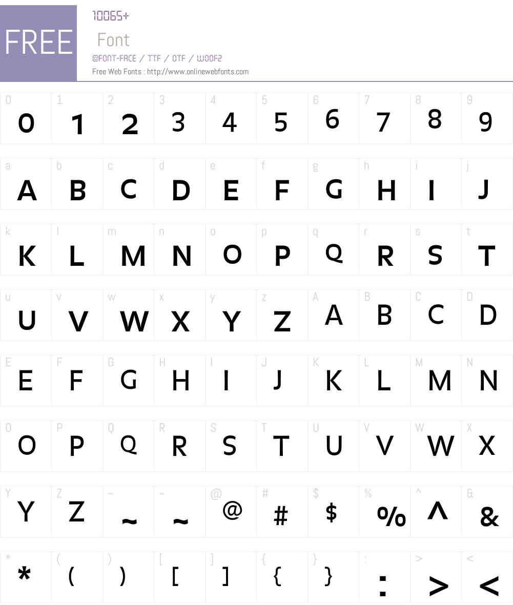 Balance Font Screenshots