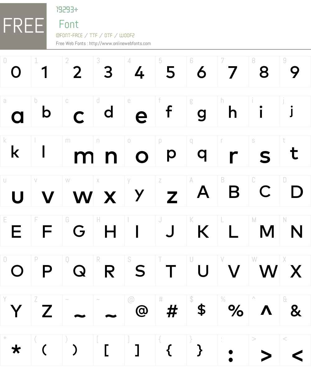 MarkOT-Medium Font Screenshots