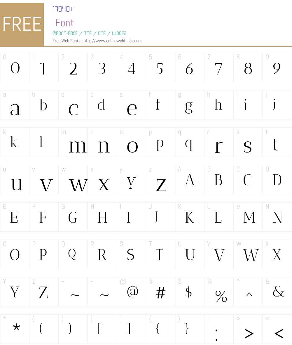 Antic Didone Font Screenshots