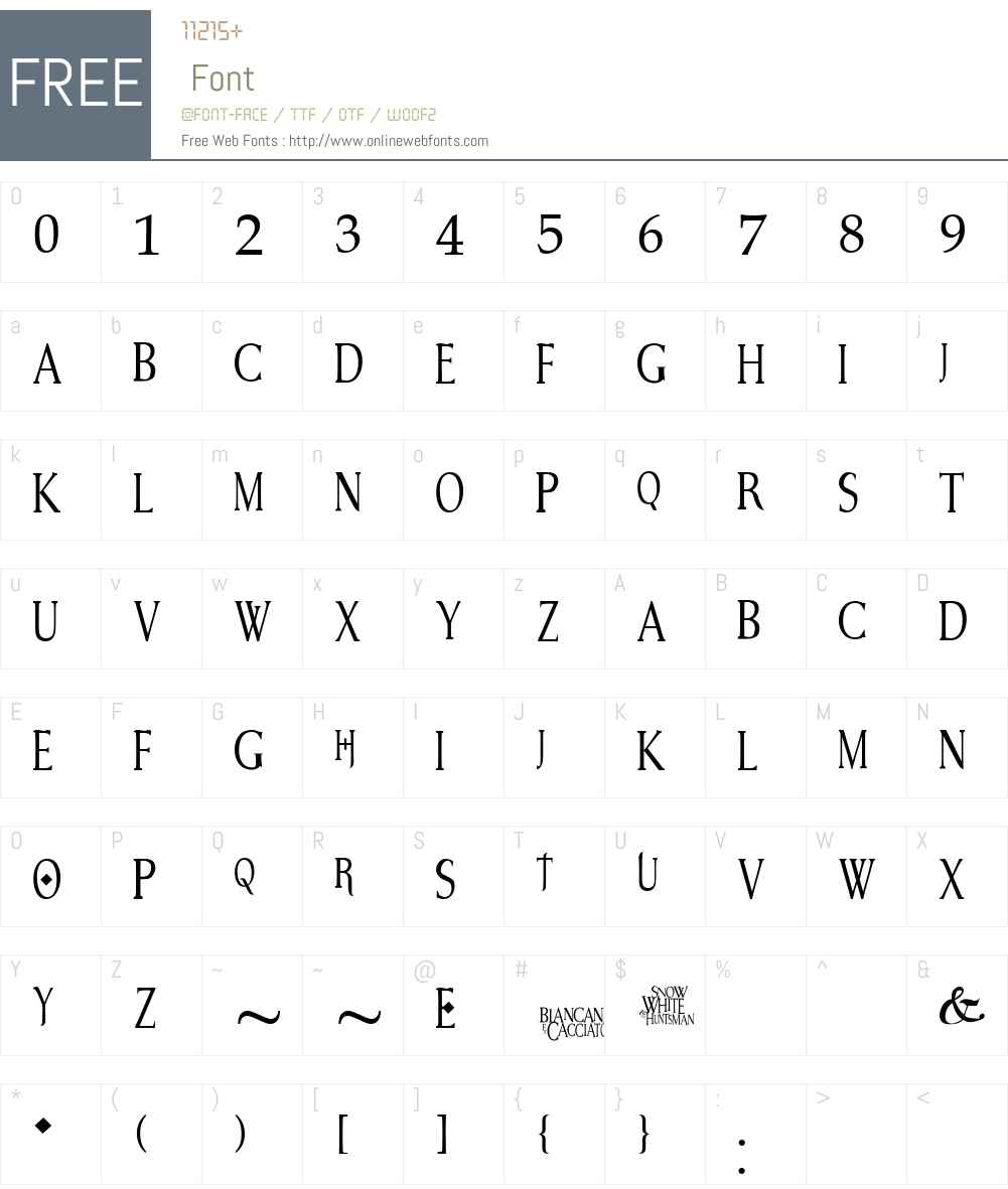 Snow White Font Screenshots