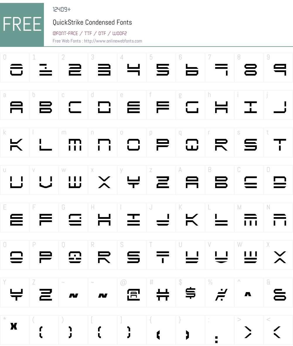 QuickStrike Condensed Font Screenshots
