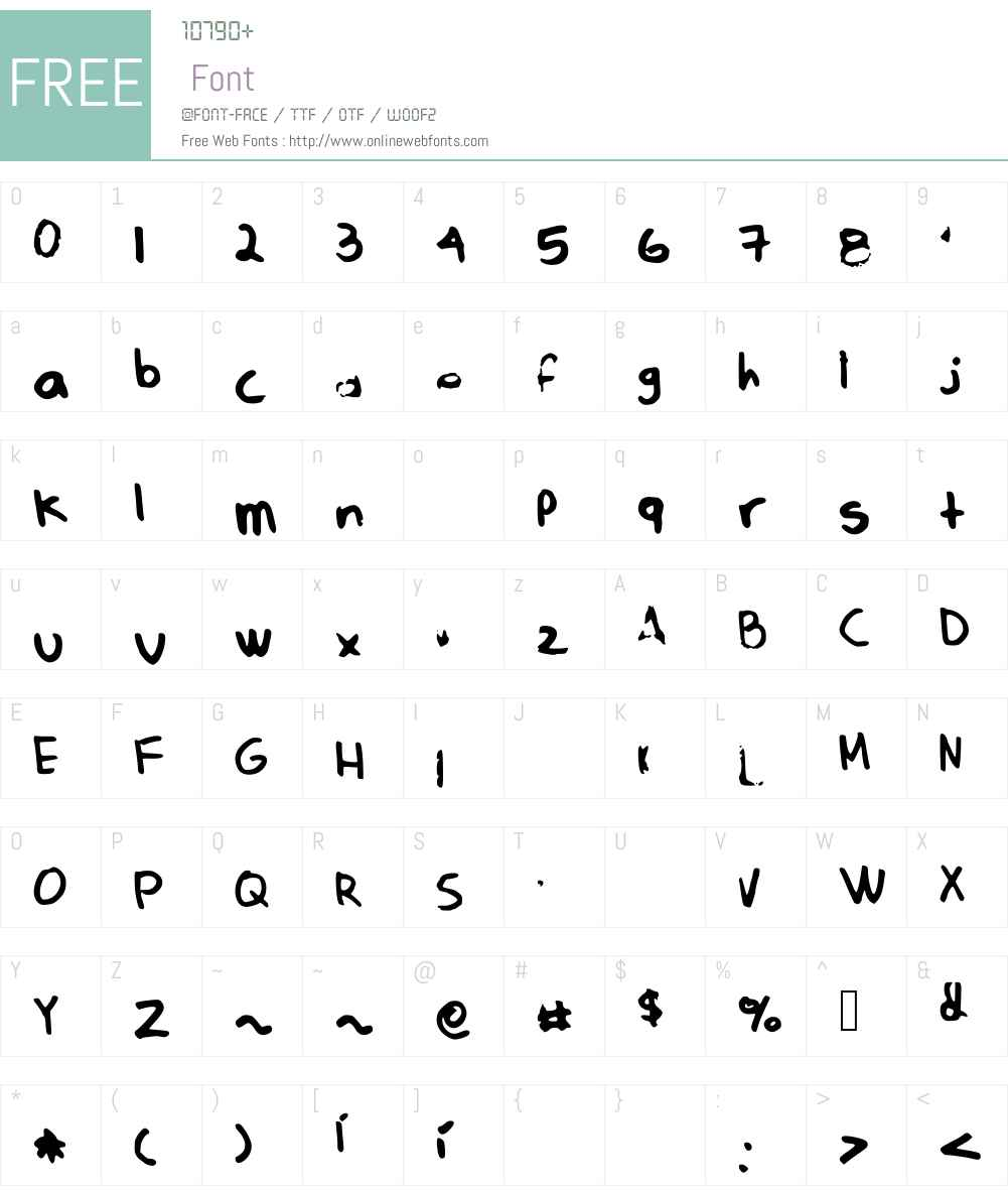 cipollinaaaaa Font Screenshots
