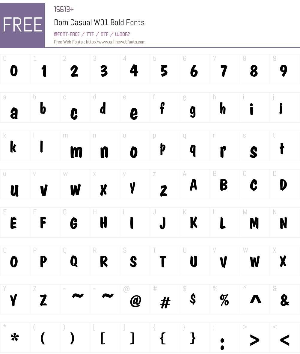 DomCasualW01-Bold Font Screenshots