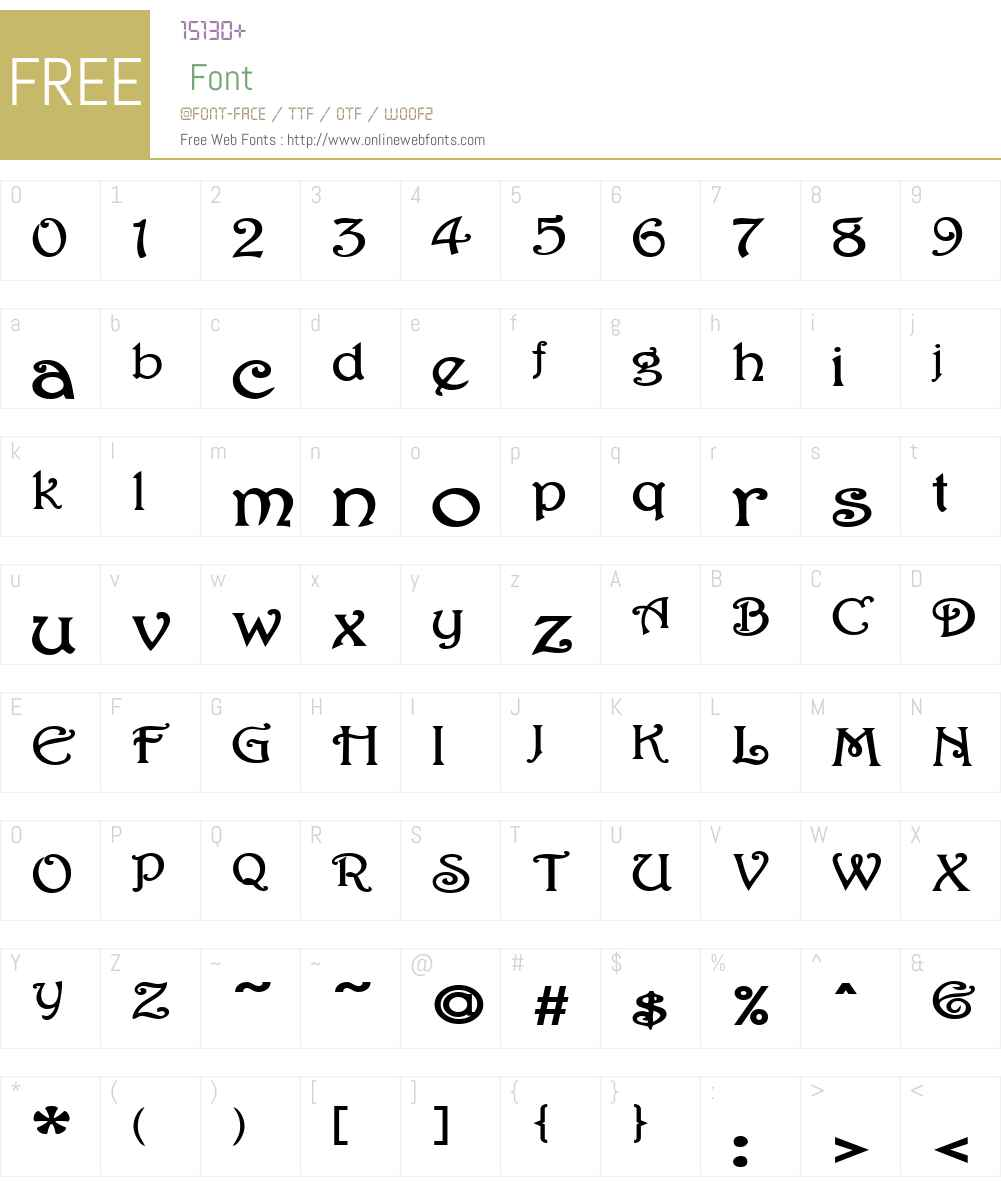 ParisianExtended Font Screenshots