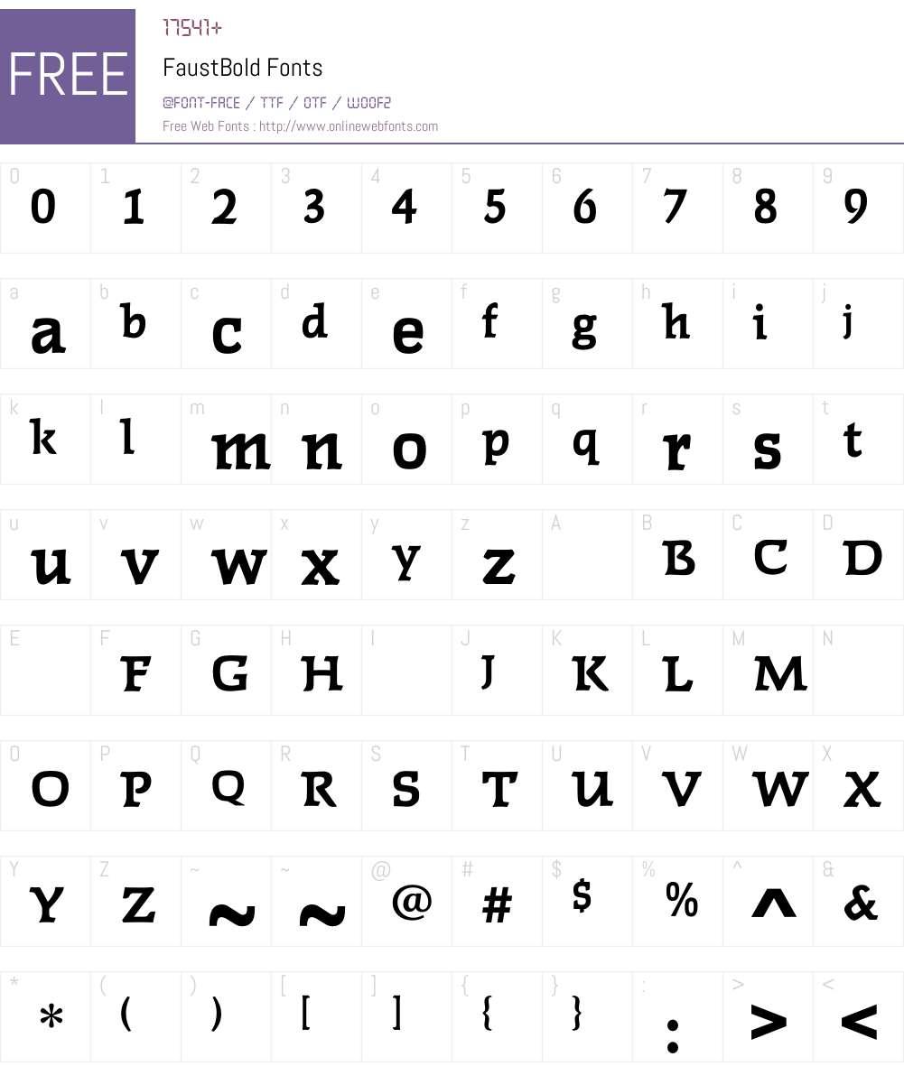 FaustBold Font Screenshots