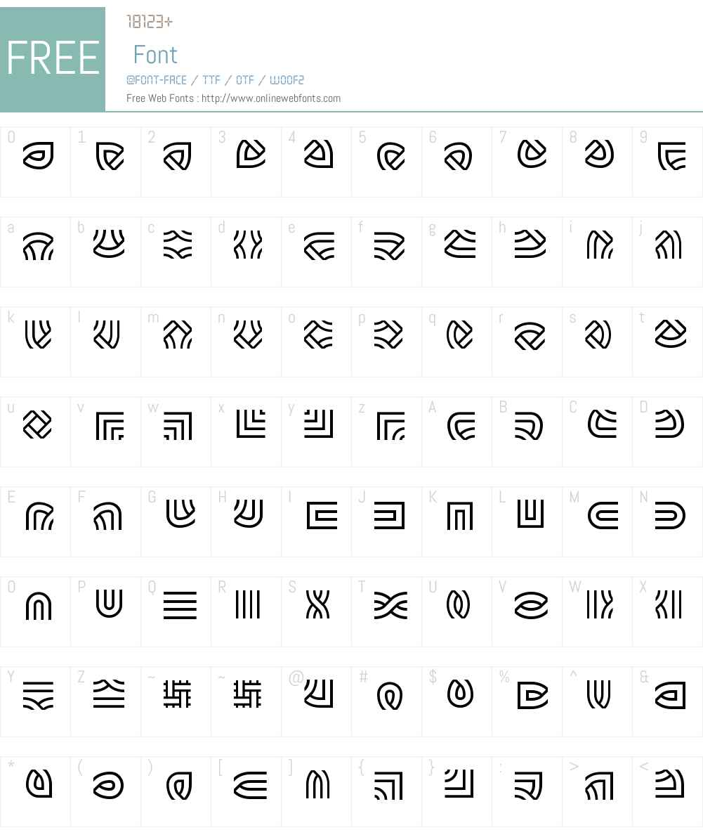 Knot Maker BRK Font Screenshots