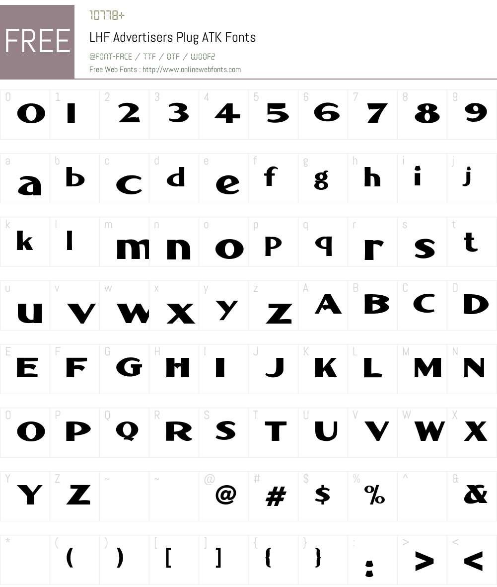 LHF Advertisers Plug ATK Font Screenshots