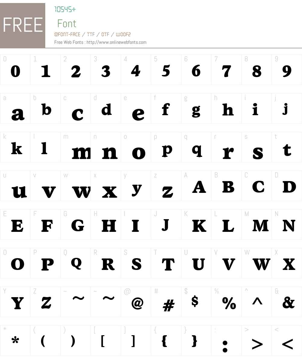 StratfordW01-ExtraBold Font Screenshots