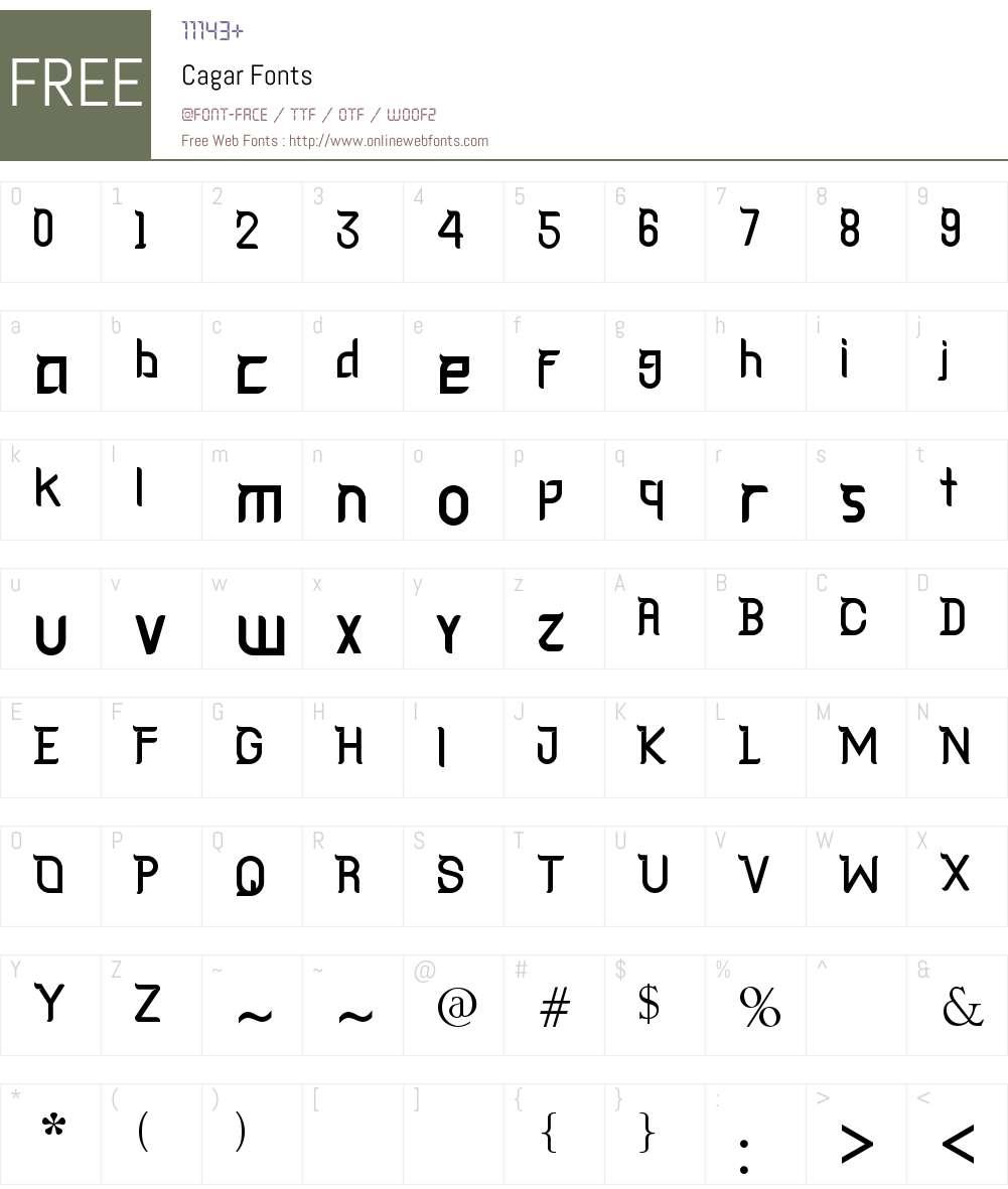 Cagar Font Screenshots