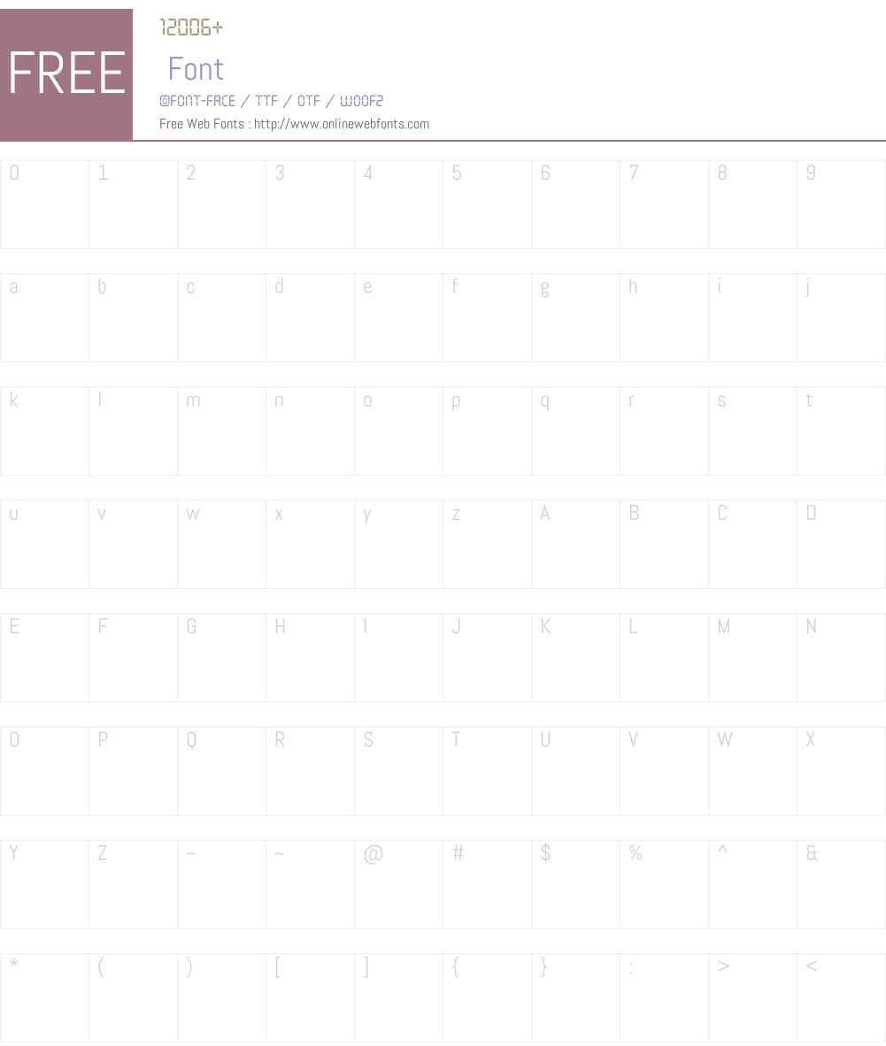 Defactica Font Screenshots