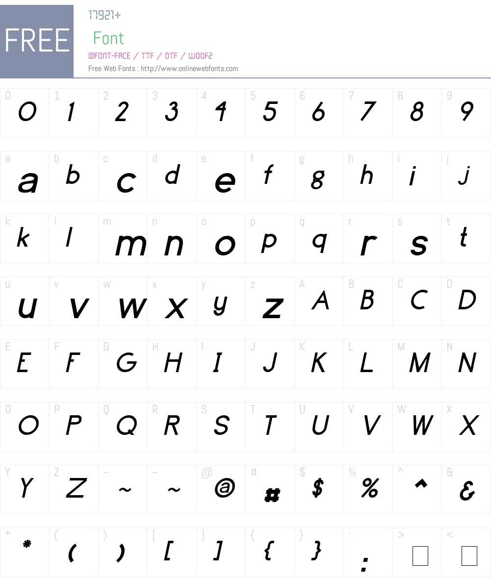 Avinato Font Screenshots