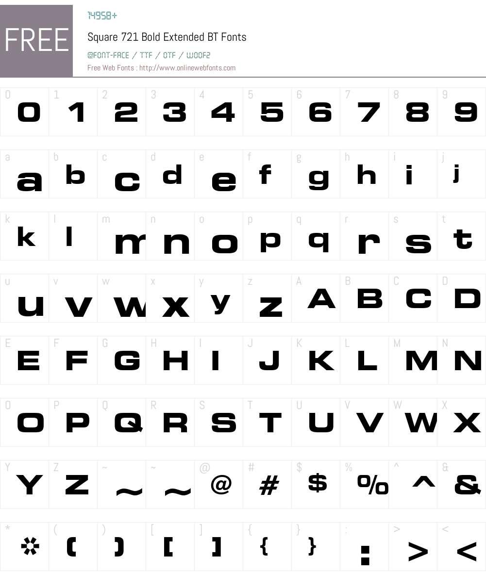 Square721 BdEx BT Font Screenshots