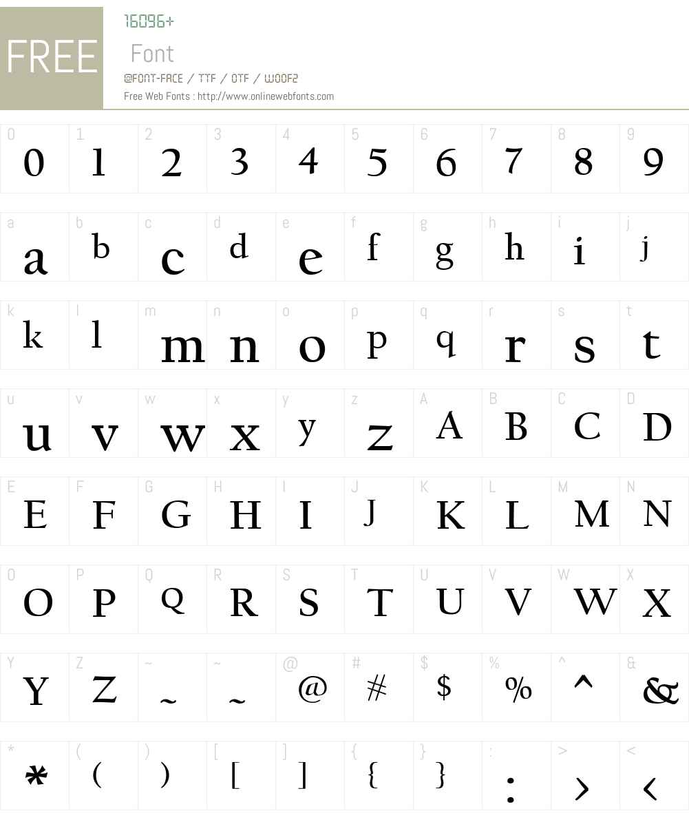 FBCalifornian Font Screenshots