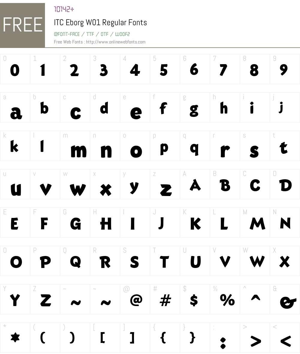 ITCEborgW01-Regular Font Screenshots