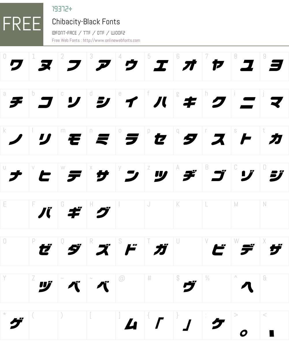 Chibacity Font Screenshots
