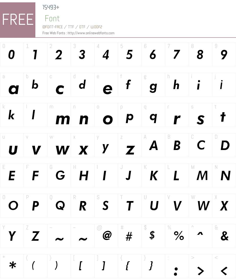 Futurist Font Screenshots