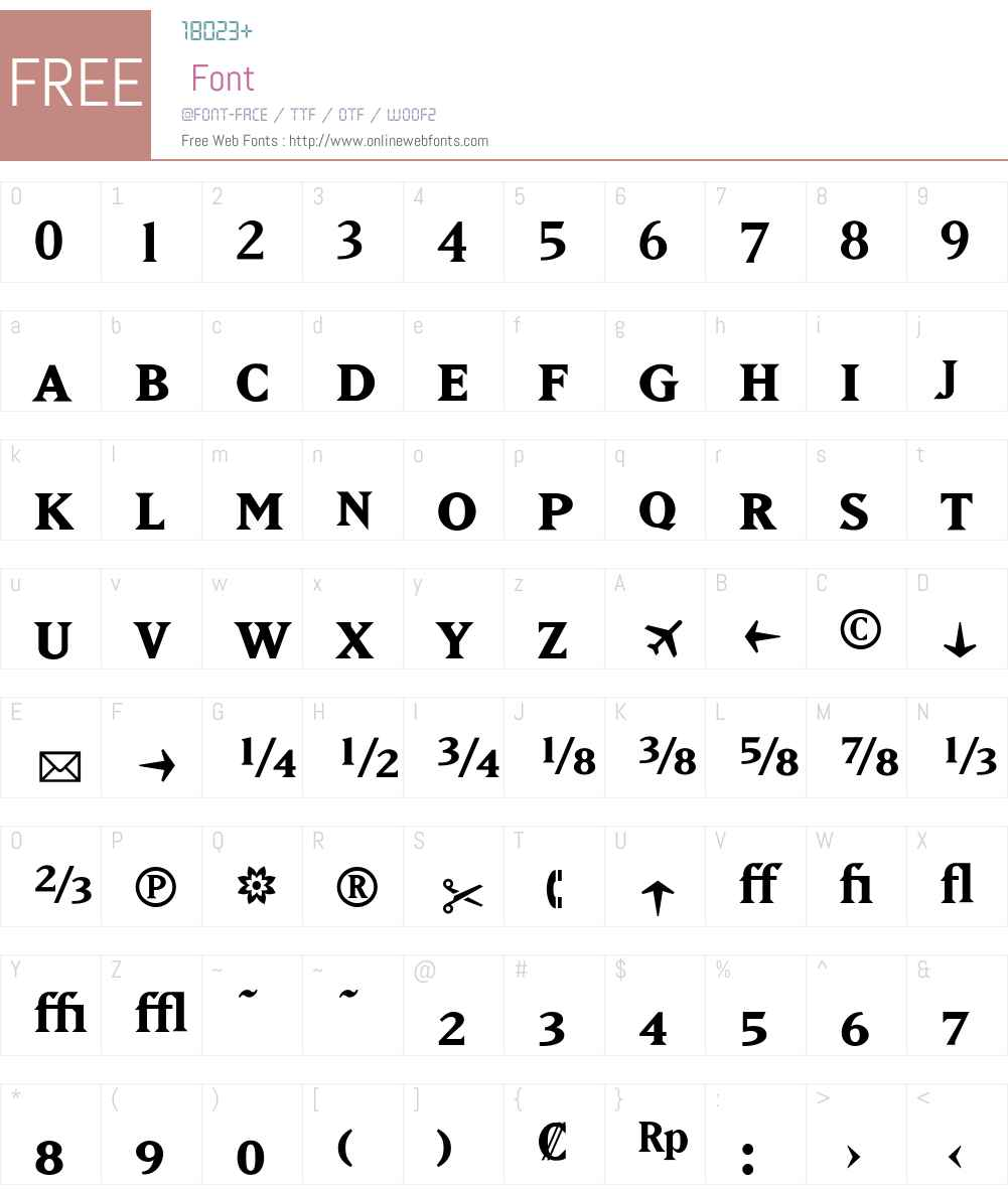 MatrixFractions Font Screenshots
