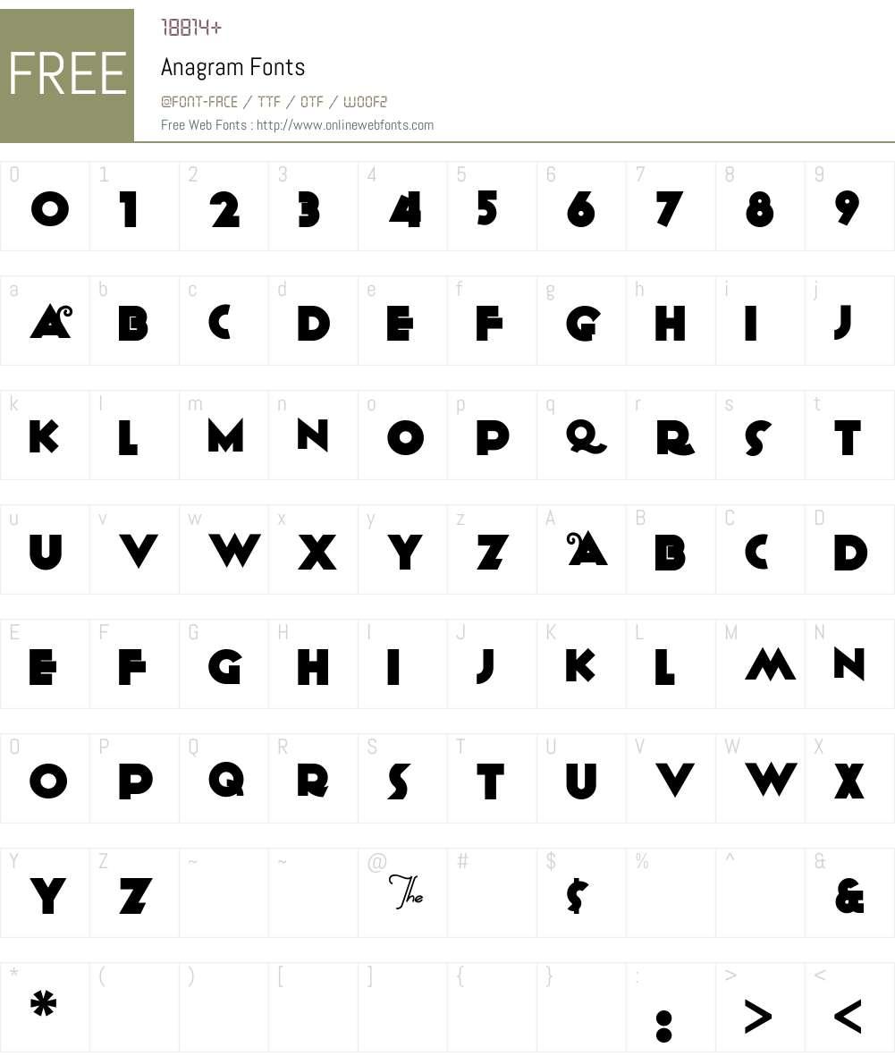 Anagram Font Screenshots