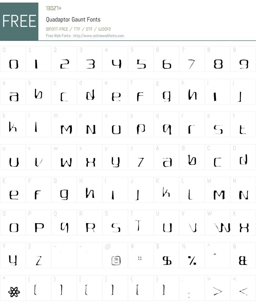 Quadaptor Gaunt Font Screenshots