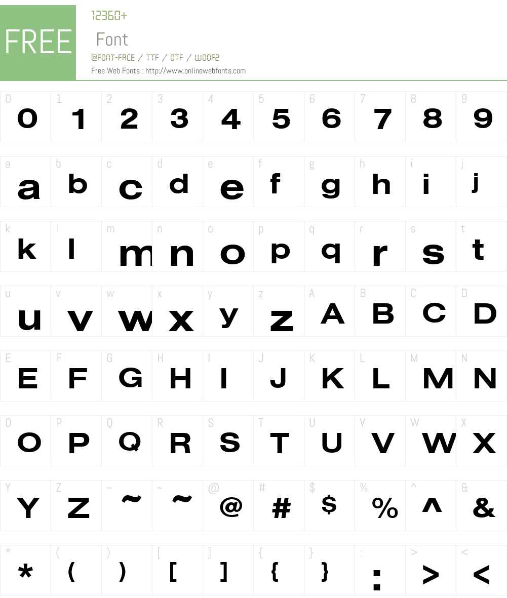 NimbusSanDExt Font Screenshots