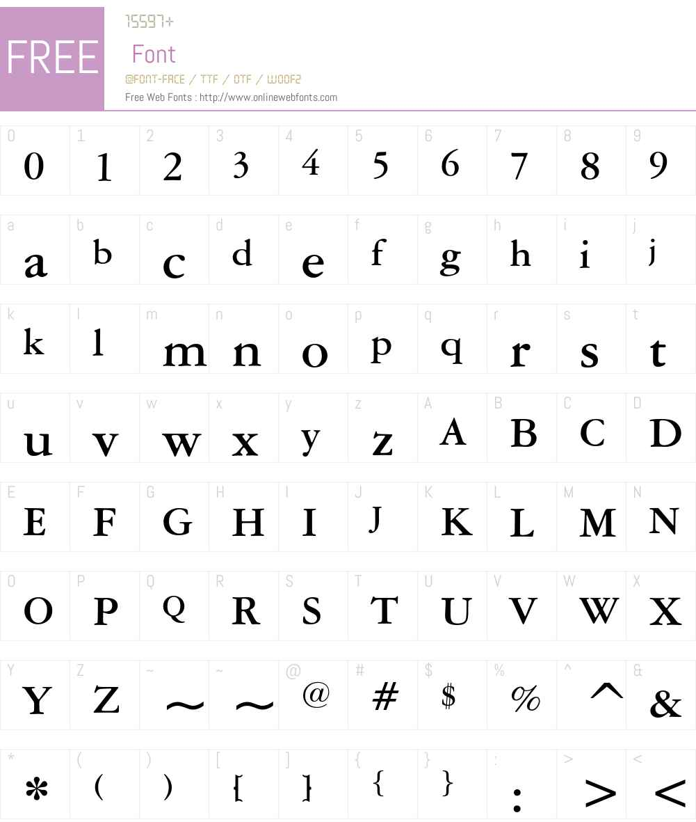 American Garamond Font Screenshots
