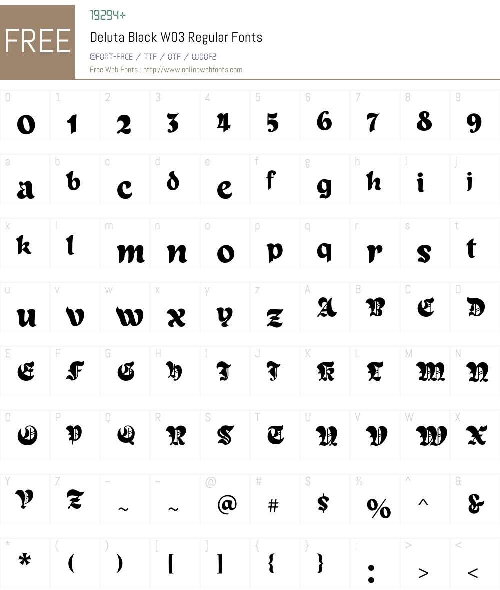 Deluta Black Font Screenshots