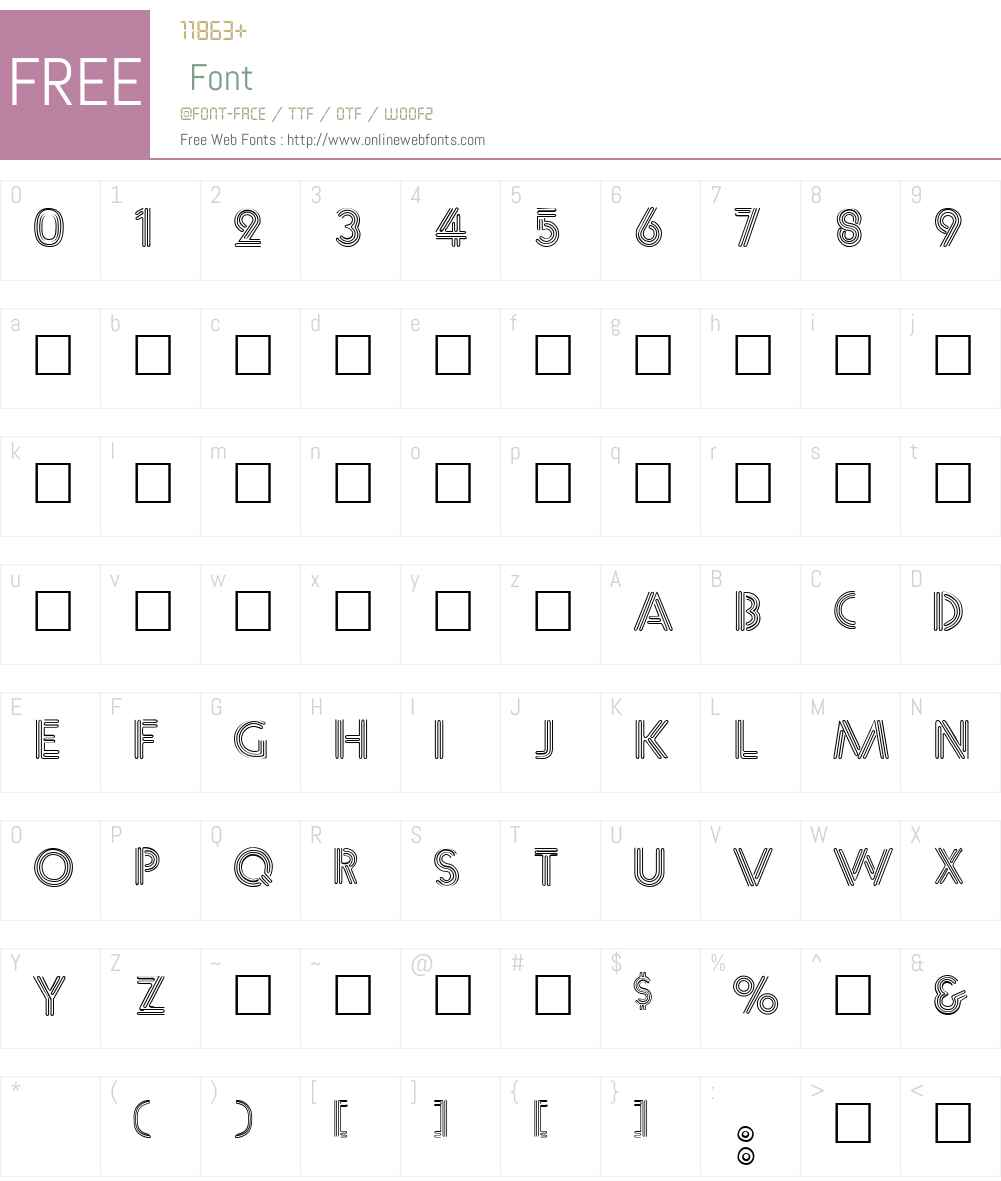 NearSighted Font Screenshots