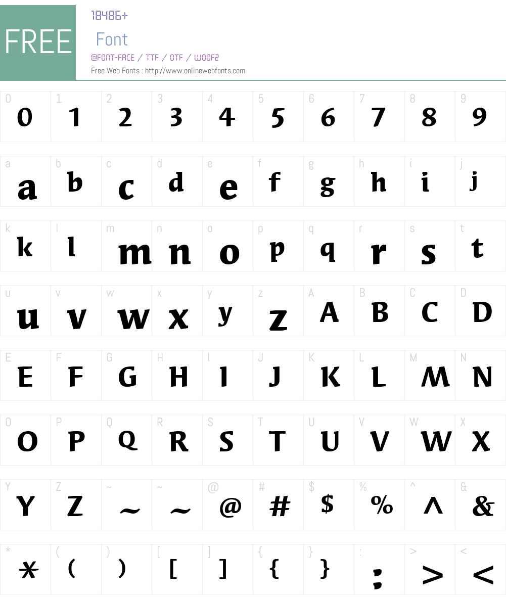 SyndorITCW01-Bold Font Screenshots