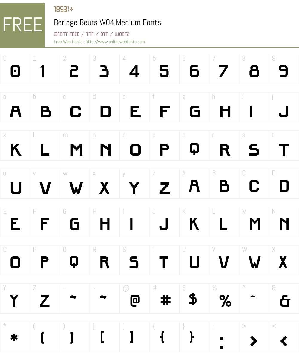 FF Berlage Beurs Font Screenshots