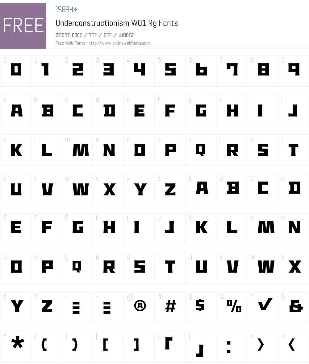 UnderconstructionismW01-Rg Font Screenshots