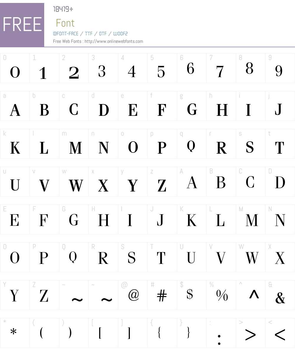 Fenice Expert BQ Font Screenshots