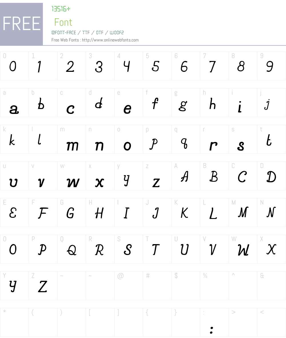 Avionne Font Screenshots