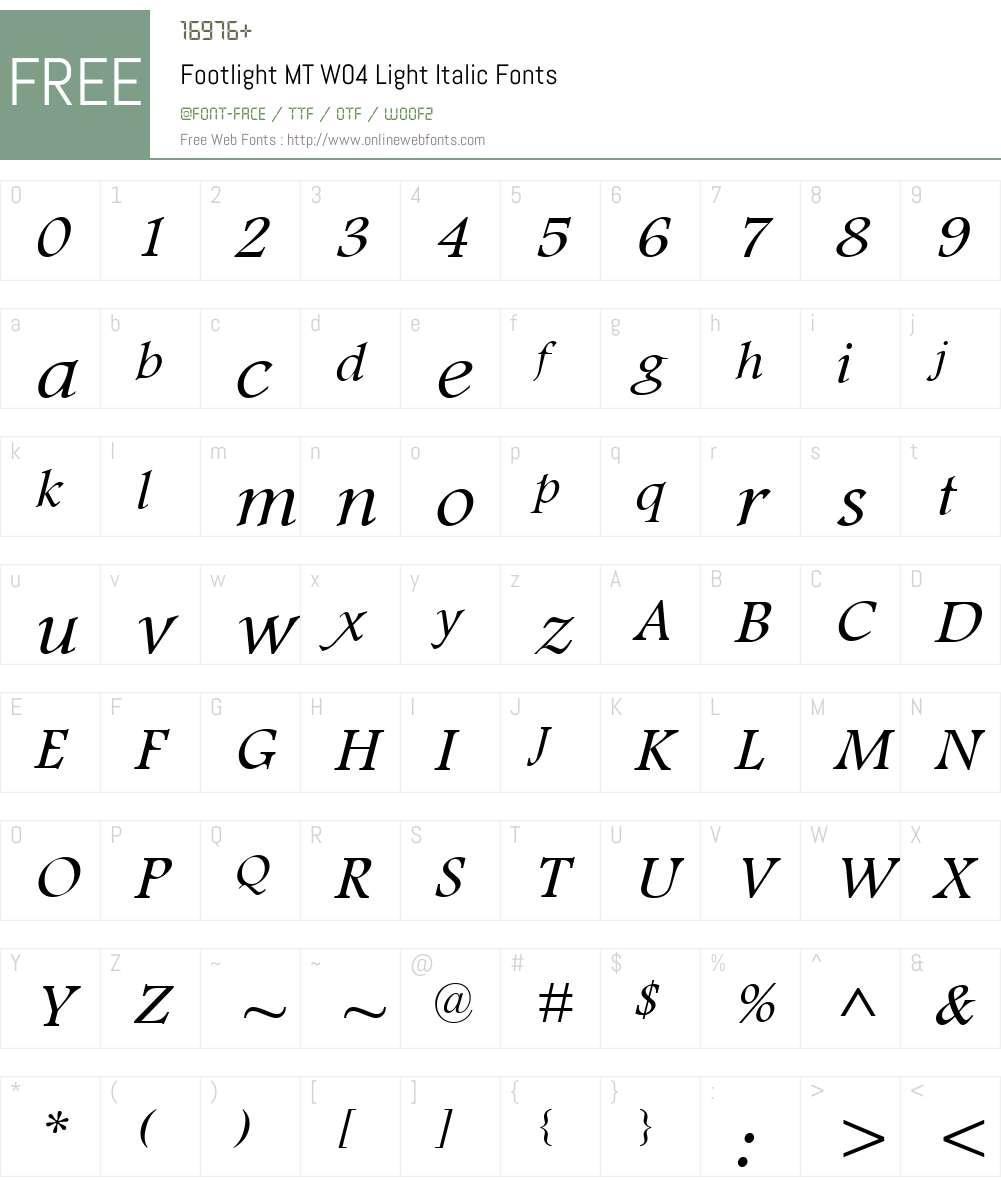 Footlight Font Screenshots