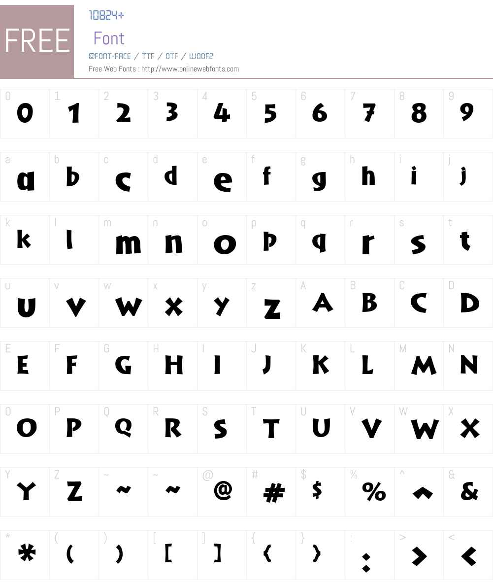AardeW01-Black Font Screenshots