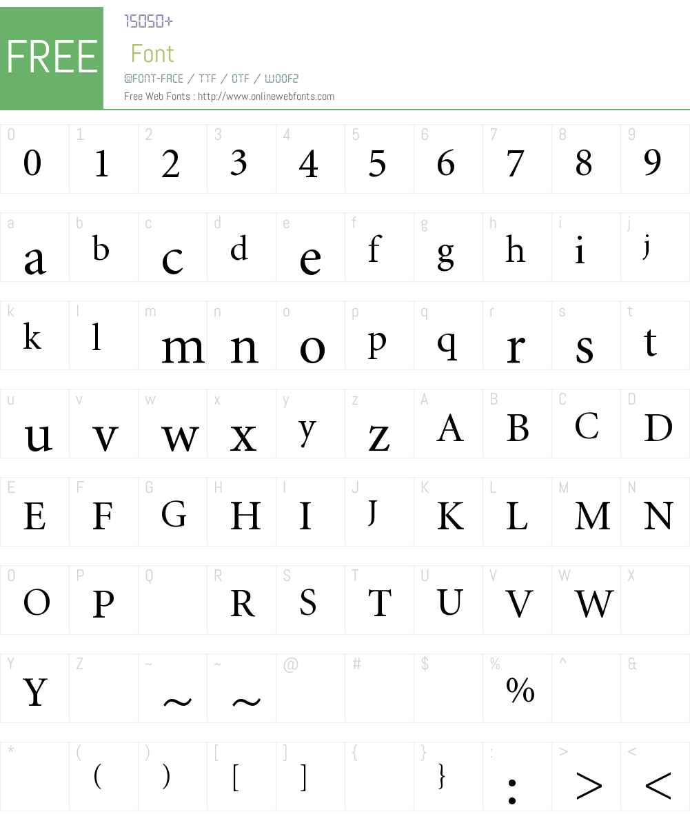 MBYEMC+Minion-Regular Font Screenshots