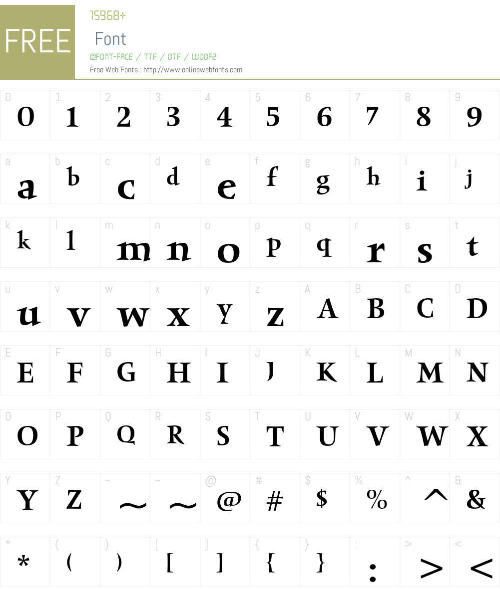 Obelisk ITC Font Screenshots