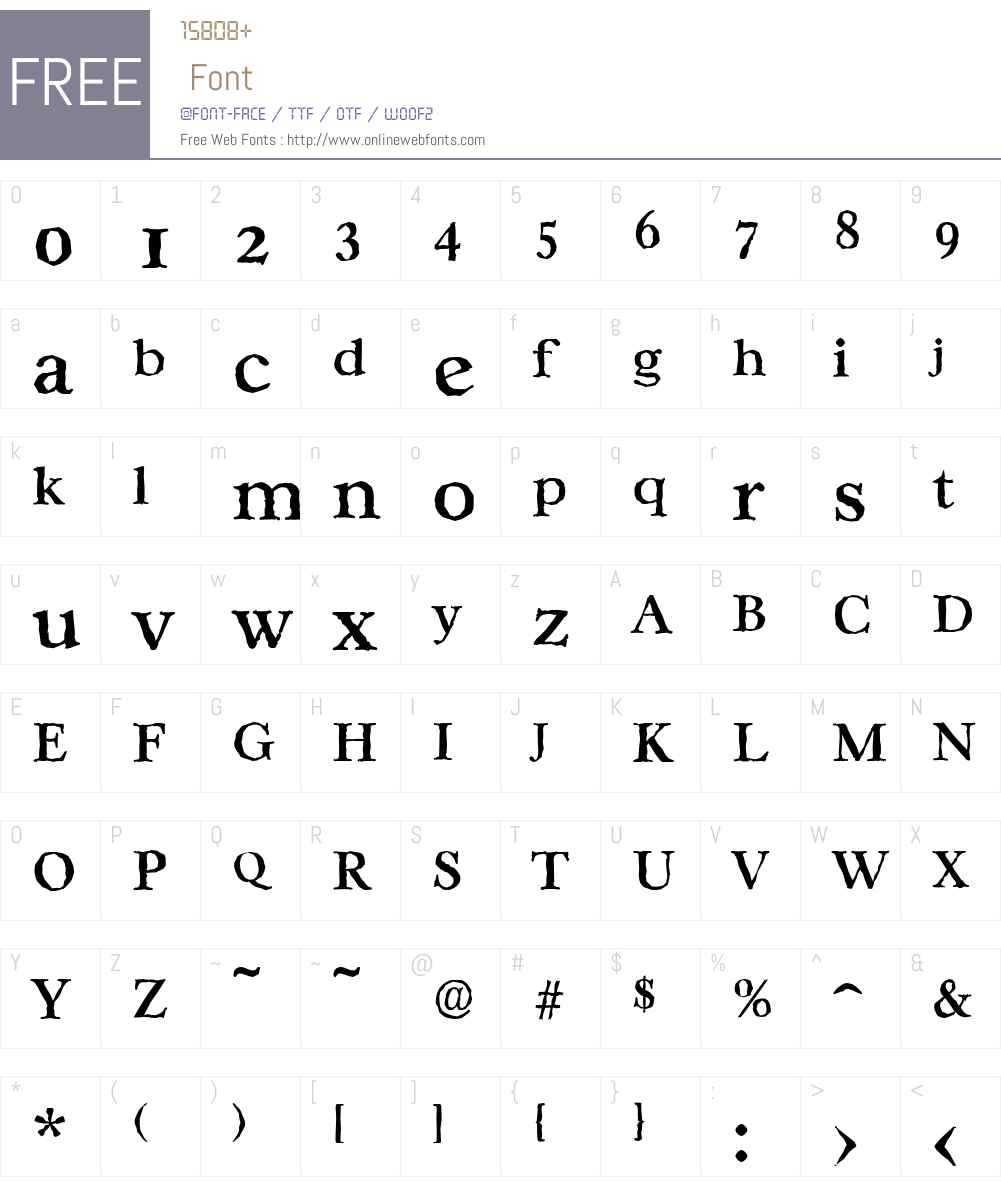 CasablancaAntique-Medium Font Screenshots