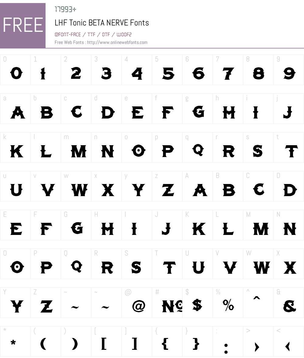 LHF Tonic BETA Font Screenshots