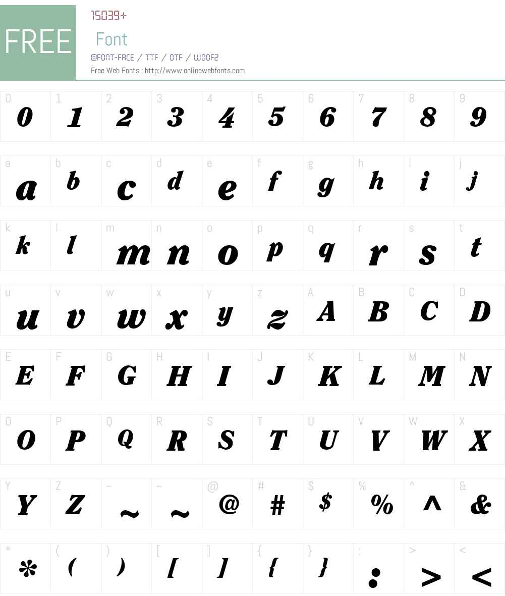 ClearfaceStd-BlackItalic Font Screenshots