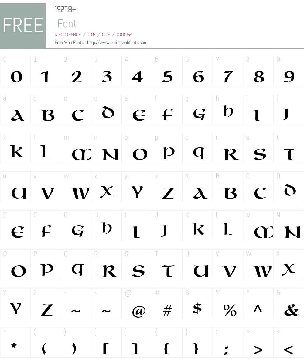 OmniaLTW01-Roman Font Screenshots