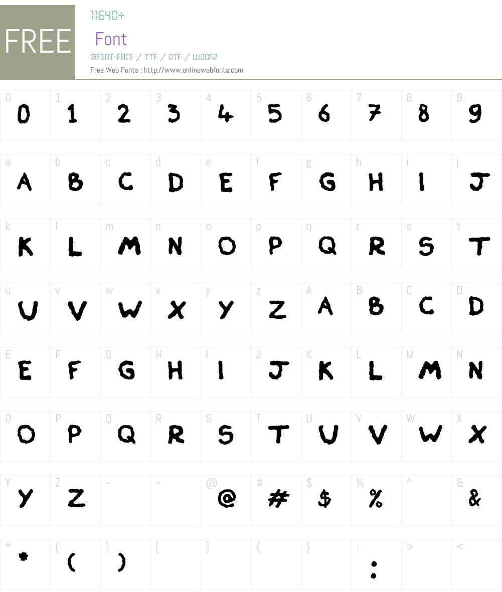 Skiver Font Screenshots