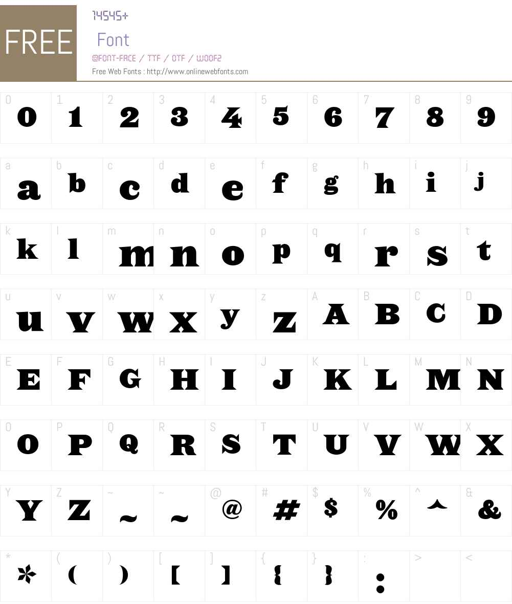 Saracen Font Screenshots