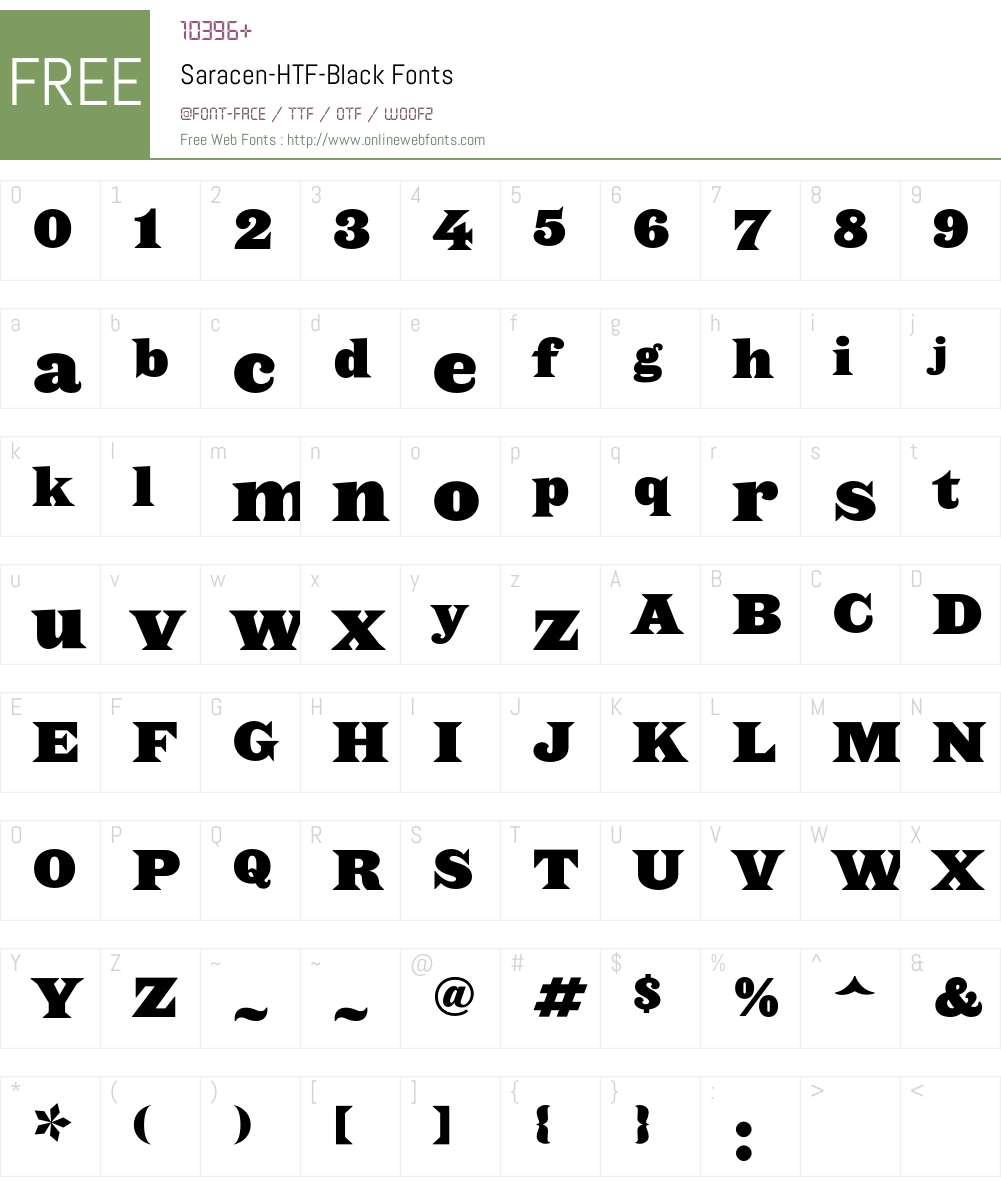 Saracen Font Screenshots