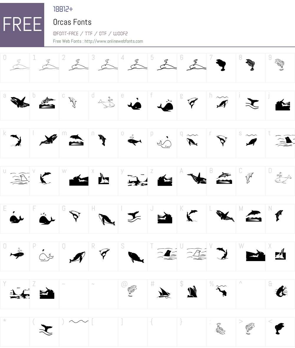 Orcas Font Screenshots